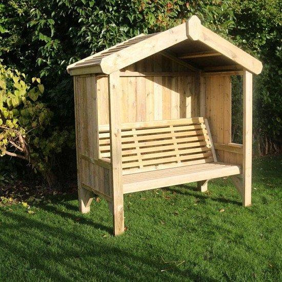 Cottage Arbour – Panelled Back & Sides – 3 seats (CA102)