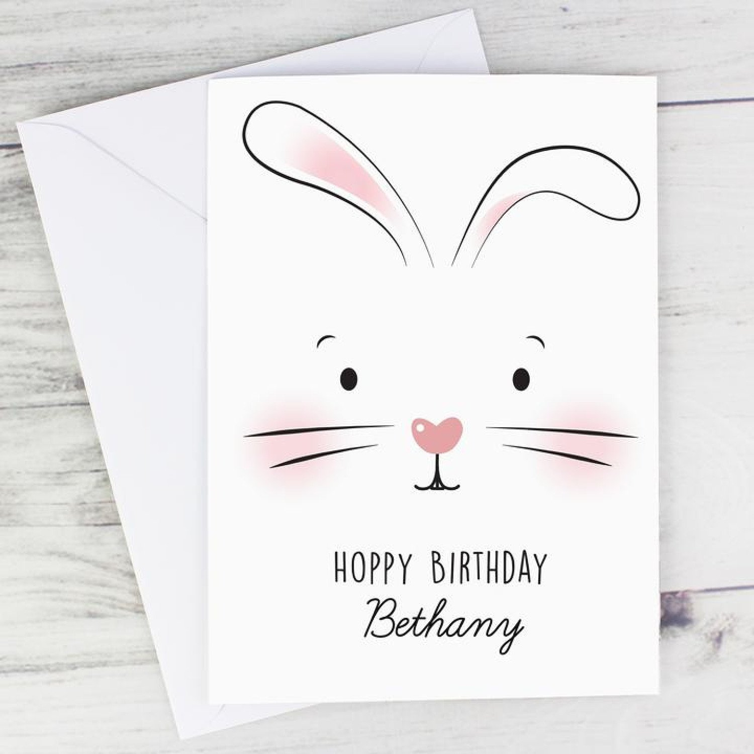 Personalised Bunny Features Card Easter Birthday £3.99 Free Postage