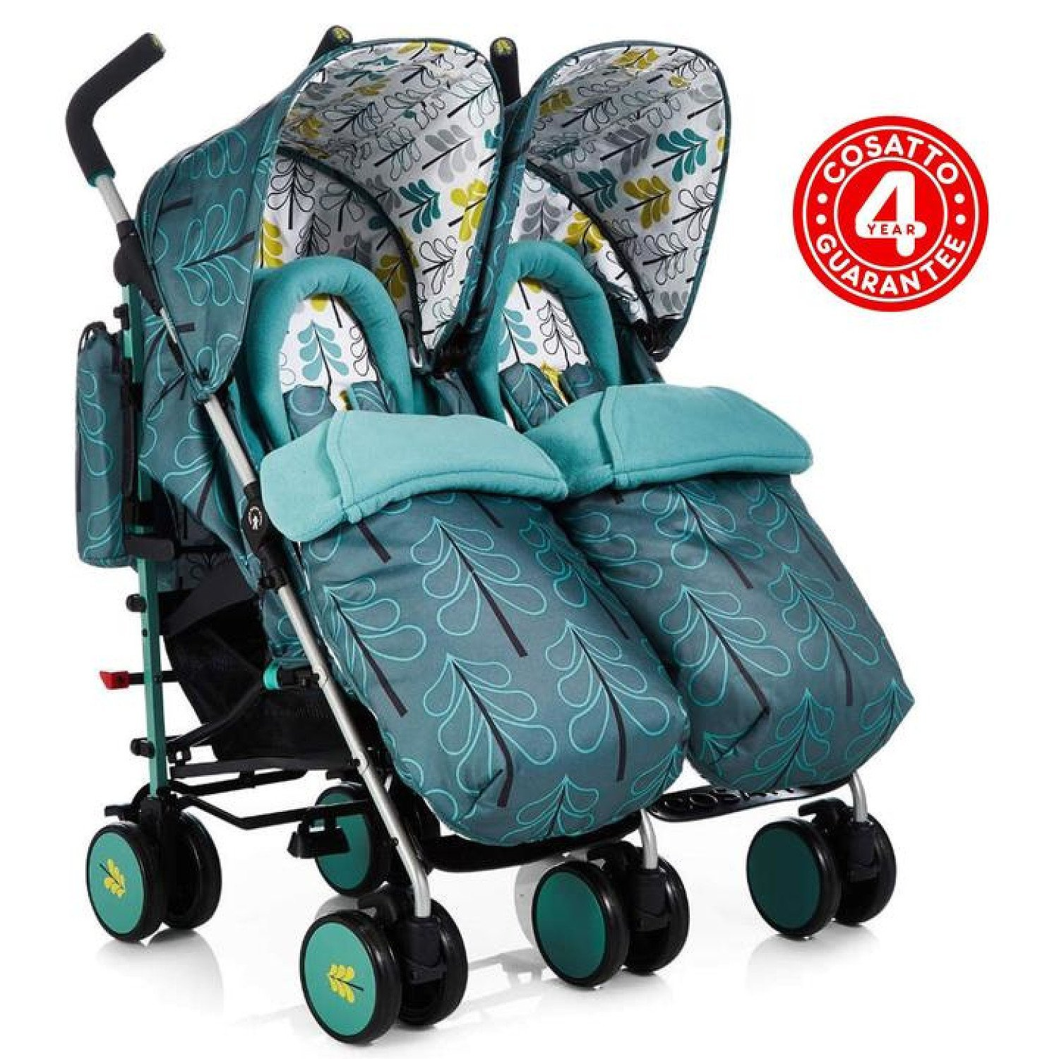 Cosatto Supa Dupa Twin Pushchair Stroller - Fjord Free Postage