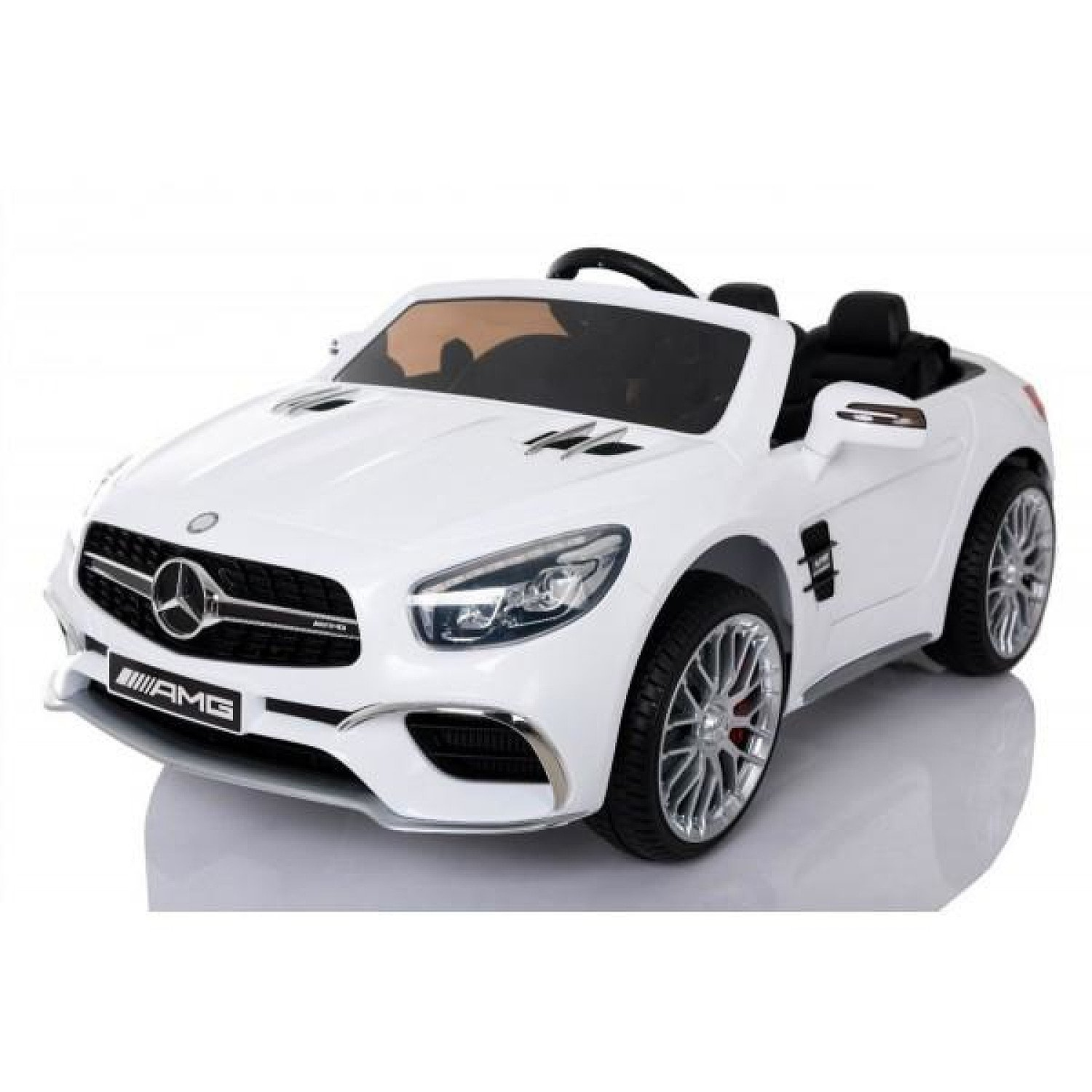 White Mercedes SL65 AMG 12v Electric Ride On Car + Parental Remote Control Free Postage