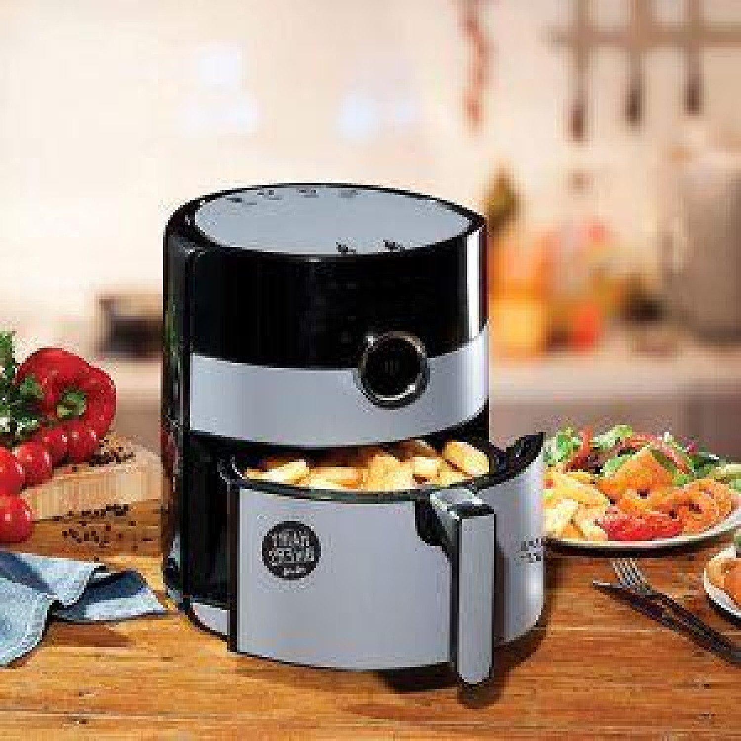 Hairy Bikers 4.5L Digital Air Fryer Low Fat Oil Healthy Cooker Oven Free Postage