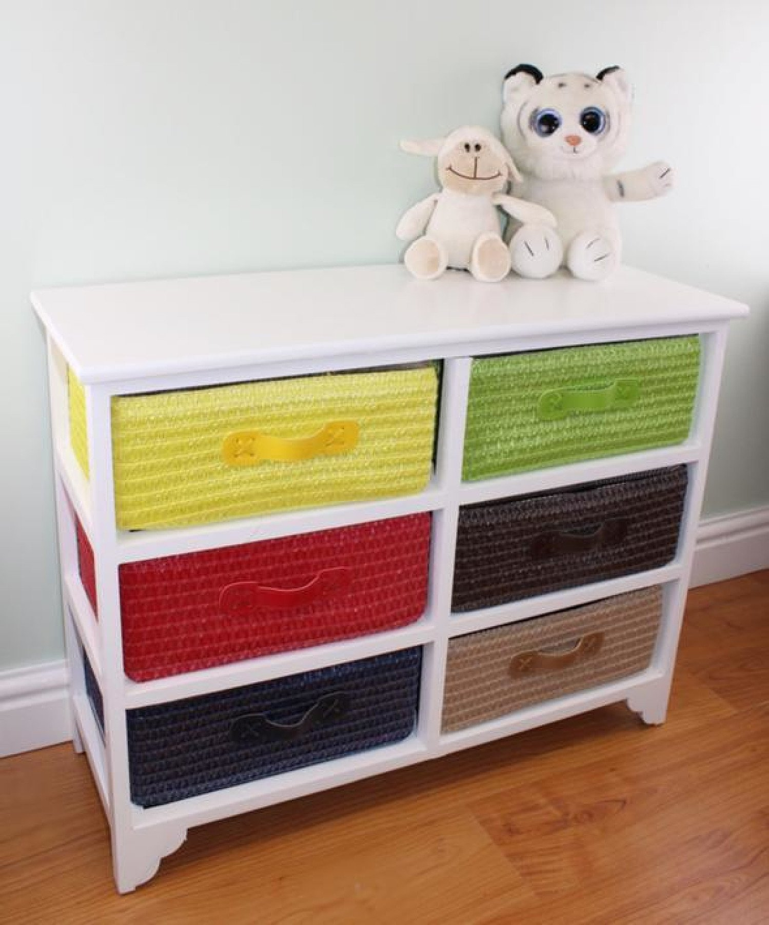 Multi Coloured 6 Drawer Storage Unit with Baskets Free Postage