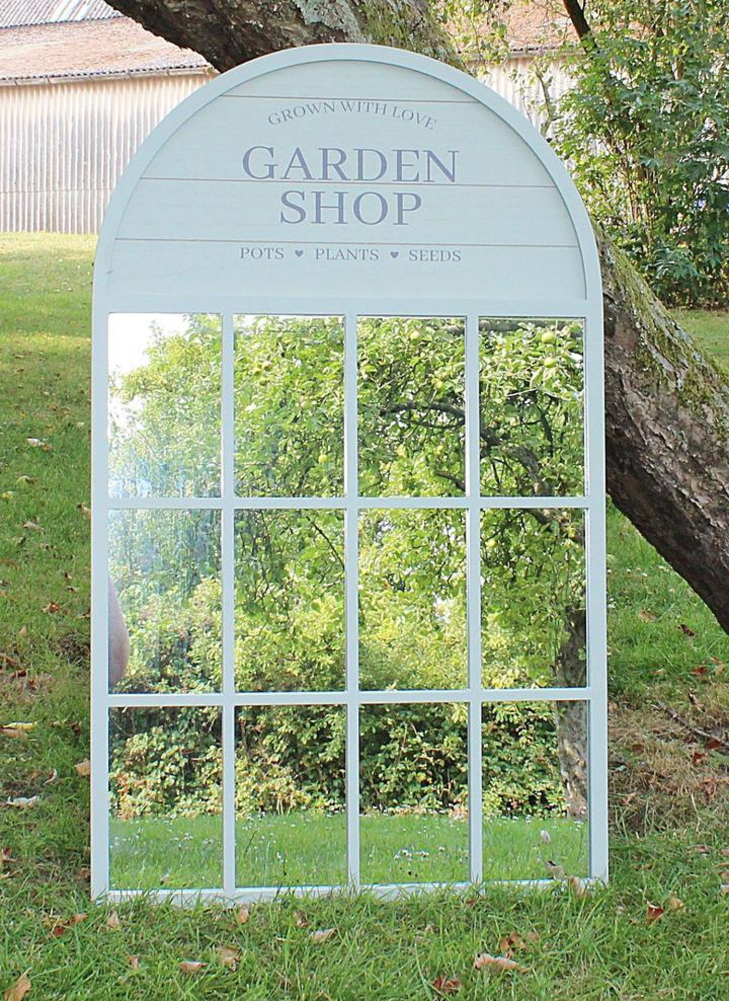 60x100cm Potting Shed Mirror, Green Free Postage