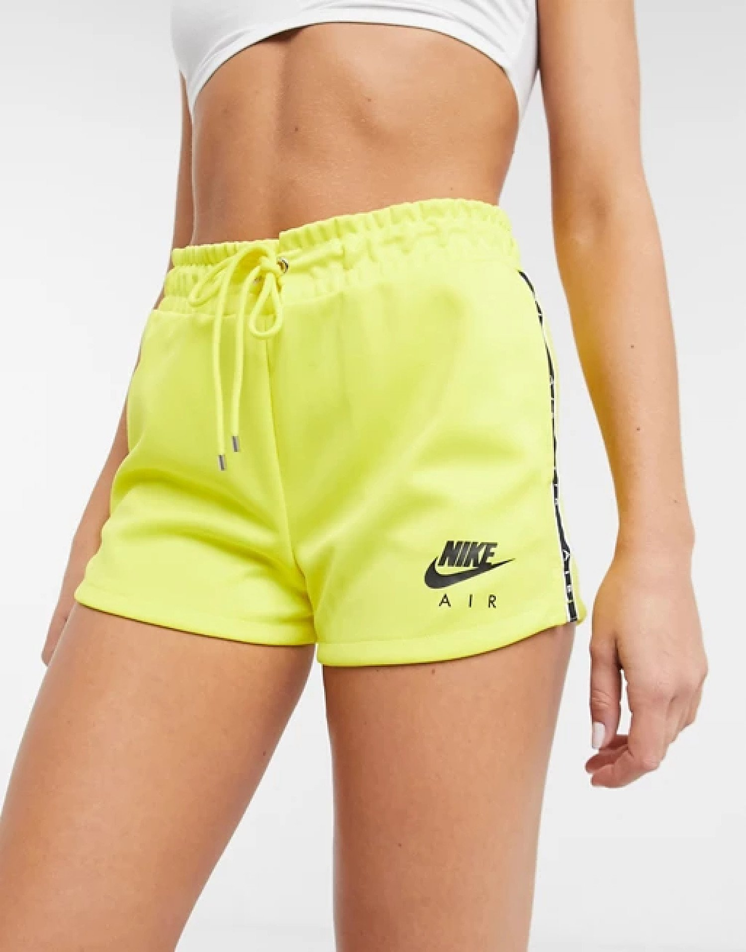 SALE - Nike air logo tape shorts in yellow!