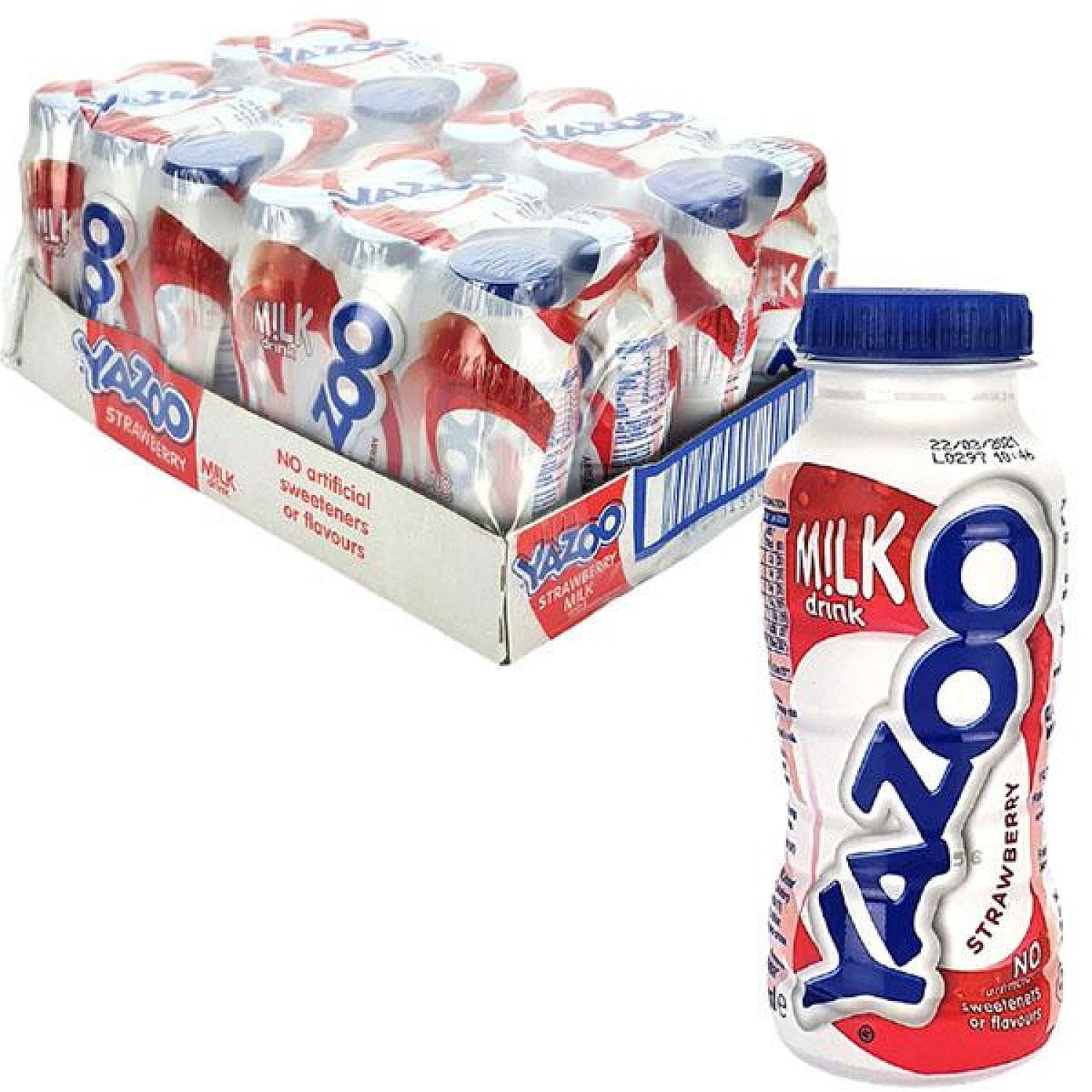 24 X YAZOO STRAWBERRY MILK DRINK 200ML BOTTLES