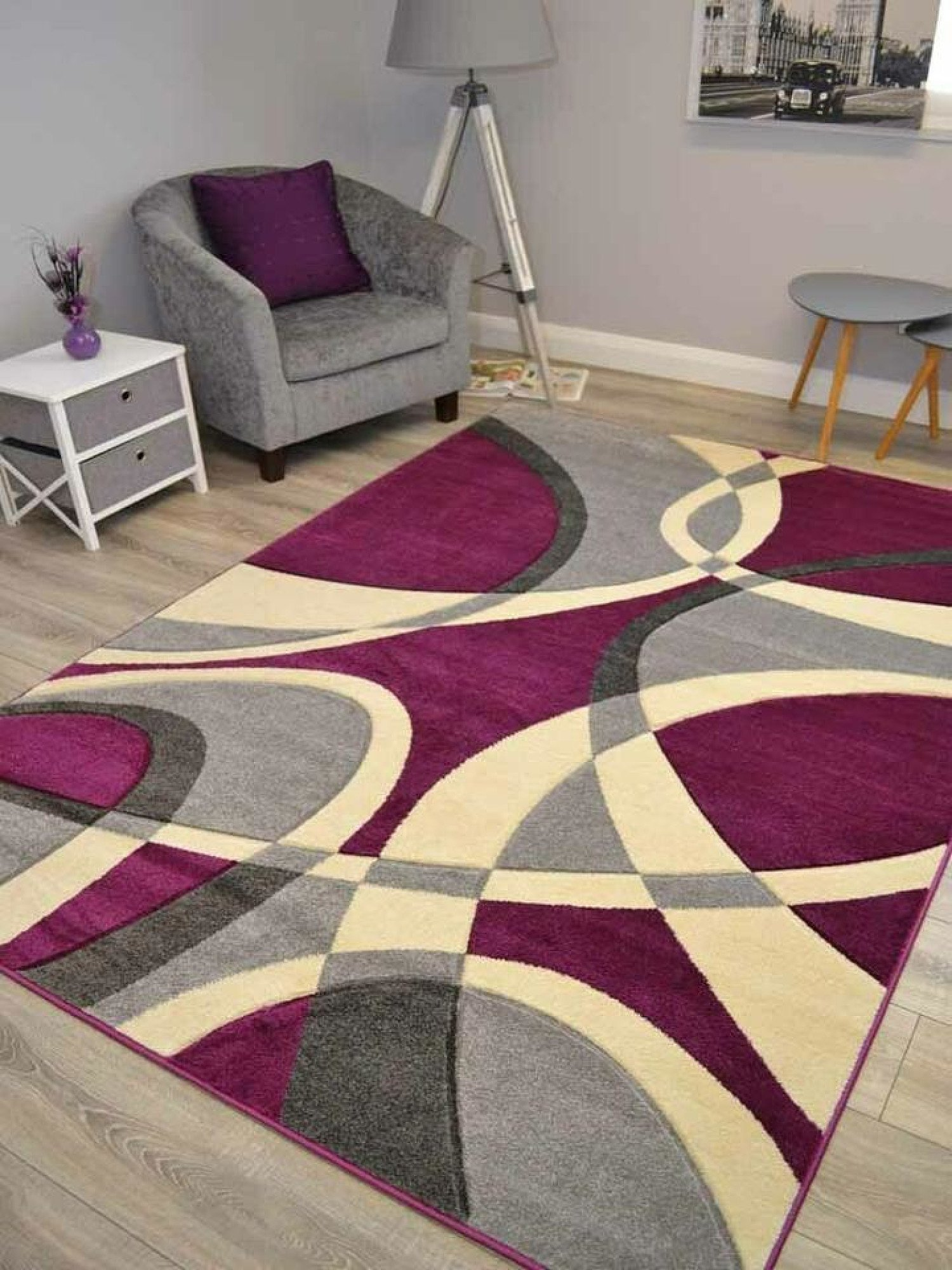 Hudson Purple Hawaii Rug - different sizes and prices in description- Free Postage