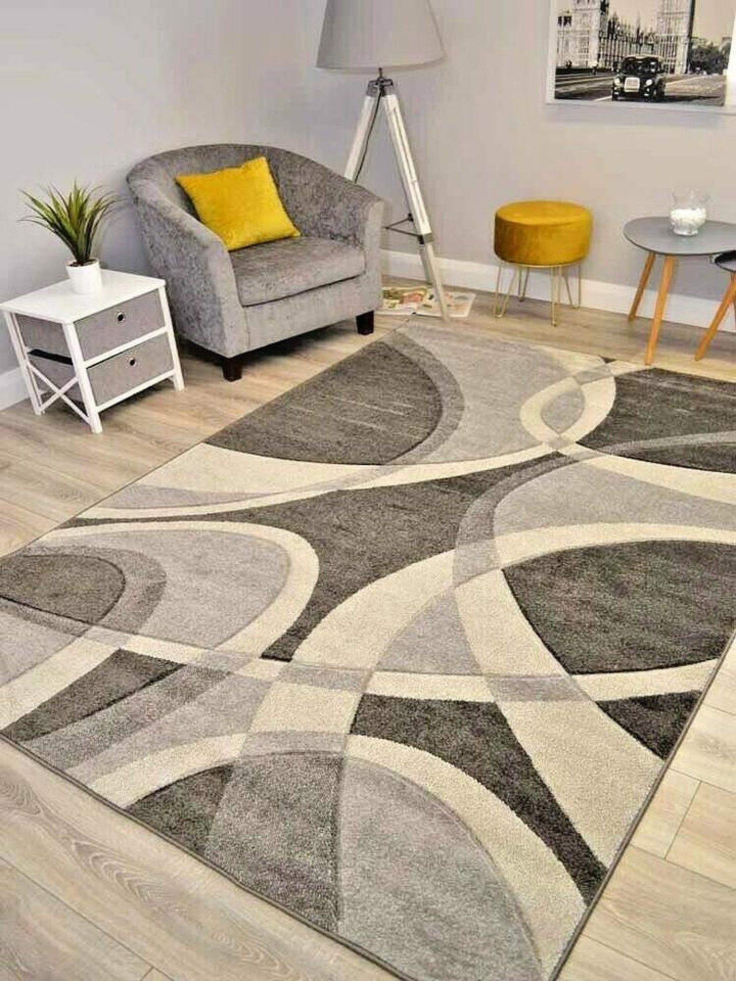 Hudson Grey Hawaii Rug - different sizes and prices in description - Free Postage