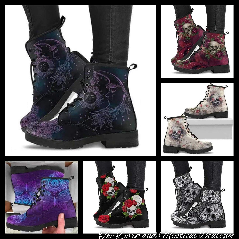 Unique Ladies Lace Up Ankle  Boots