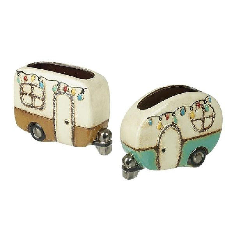 Ceramic Caravan Planter (set of 2)
