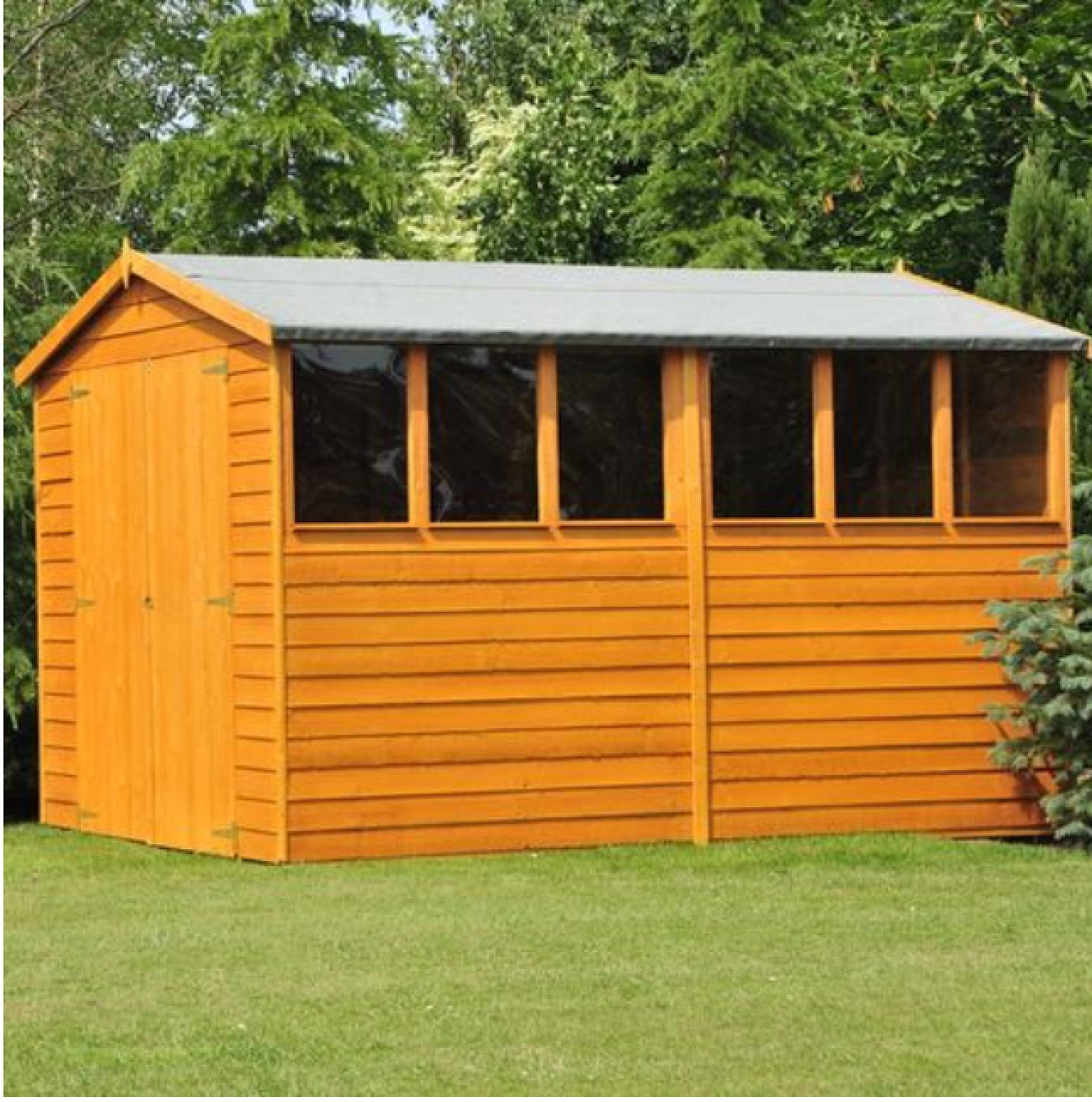 DIP TREATED 10X6FT WOODEN GARDEN SHED - free delivery