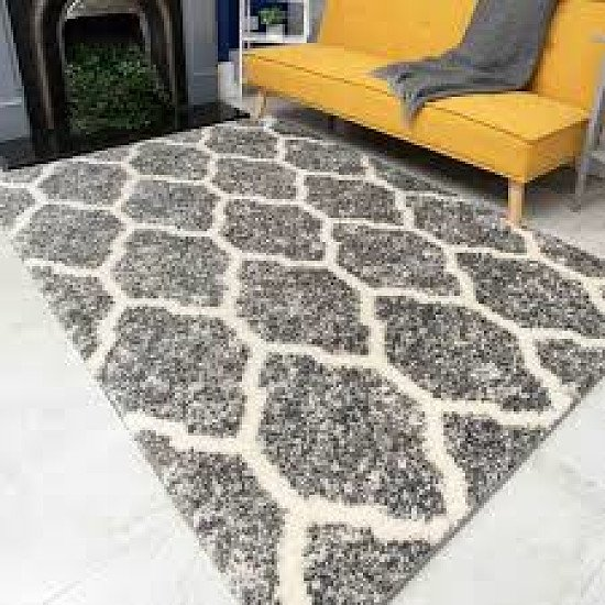 Silver and Grey Rug