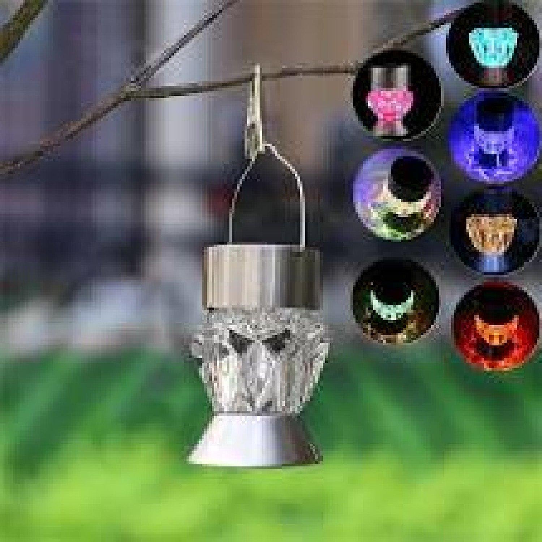 1x LED Solar Hang Pendant Lights Colourful Outdoor Garden Lamp