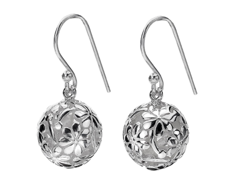 Silver filigree ball dropper earrings - 6.24g - £52.00 from Callibeau Jewellery