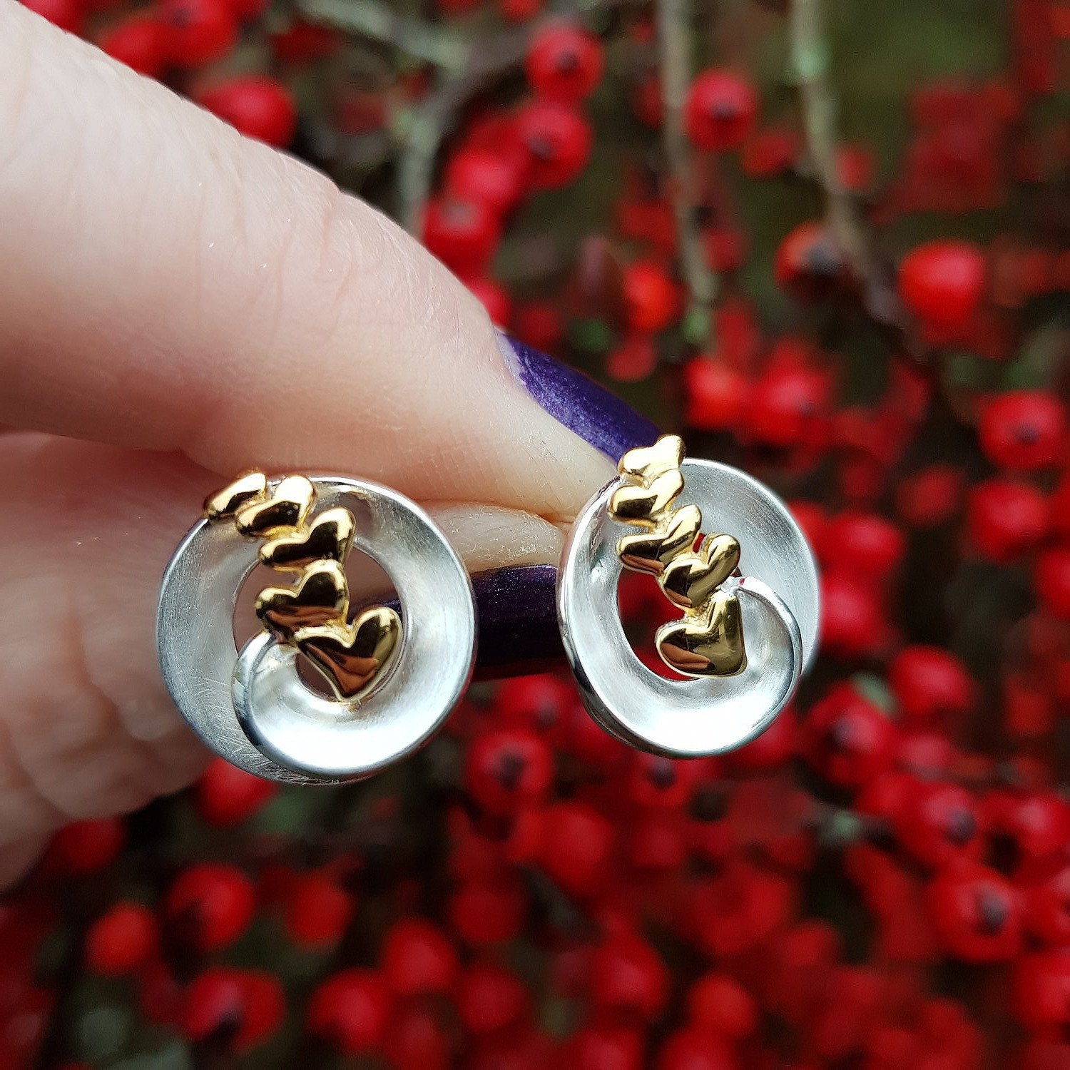 Large collection of silver earrings from Callibeau Jewellery