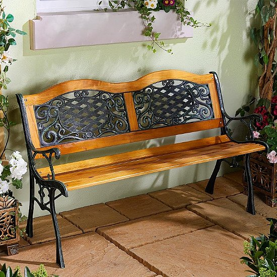 Wood and Resin Garden Bench - £79.99!