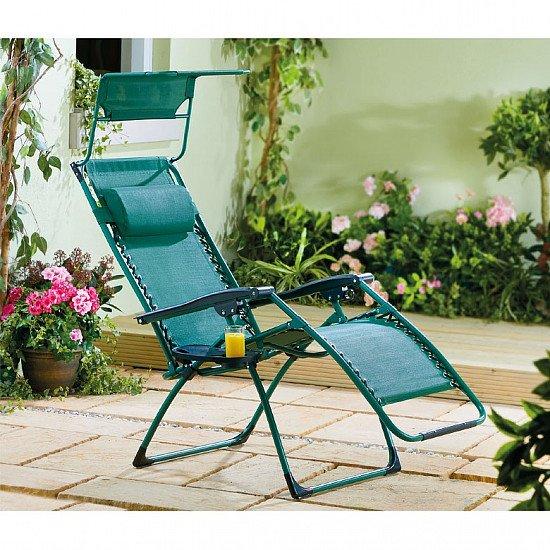 Deluxe Reclining Garden Chair - £59.99!