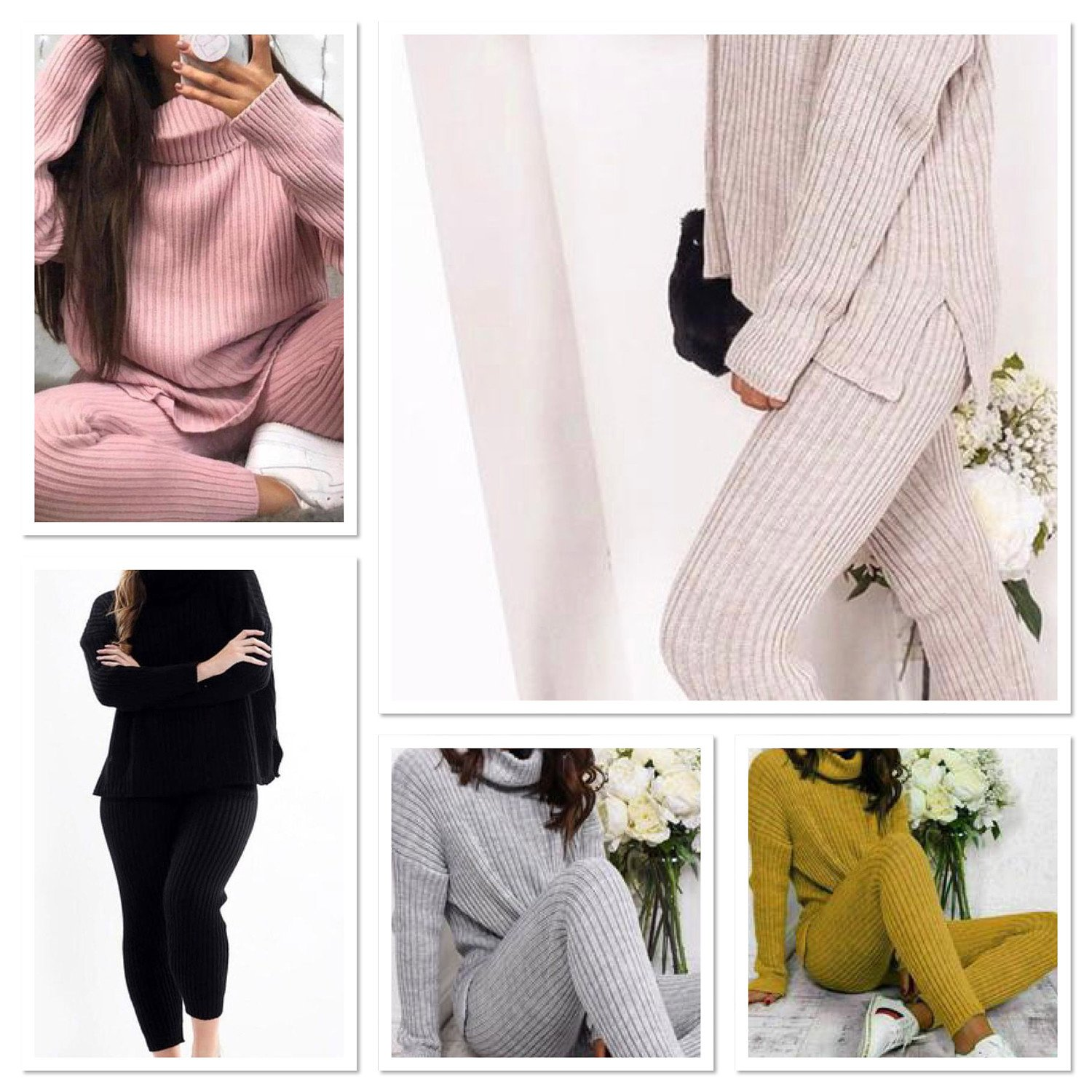 Ribbed Knitted Lounge Suit  £30.49 inc P&P