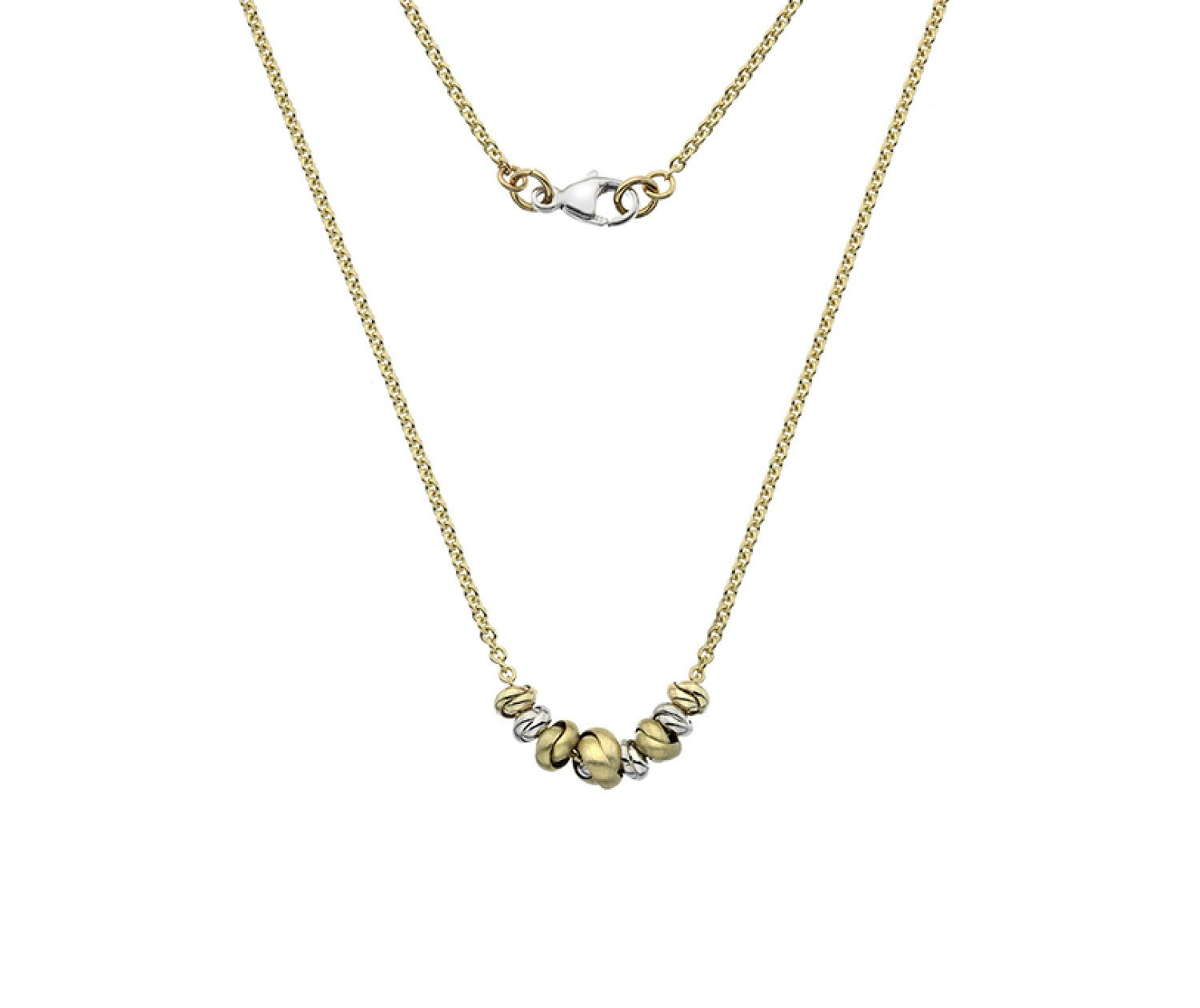 9ct Yellow, White and Rose Gold Necklaces from Callibeau Jewellery