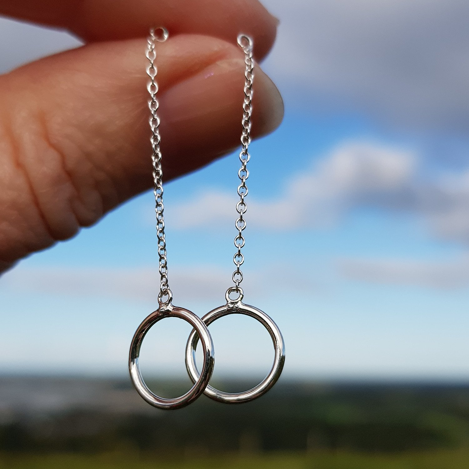 9ct Gold and Silver Drop/Dangly Earring Collection from Callibeau Jewellery