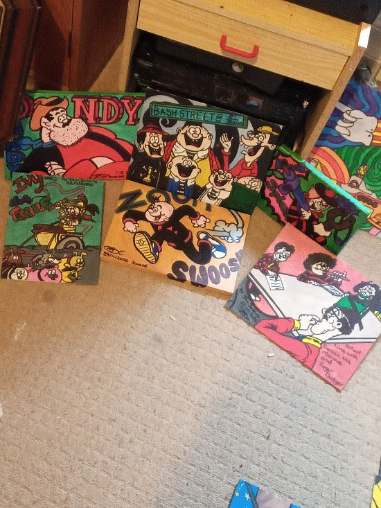 Beano and dandy collection of artworks