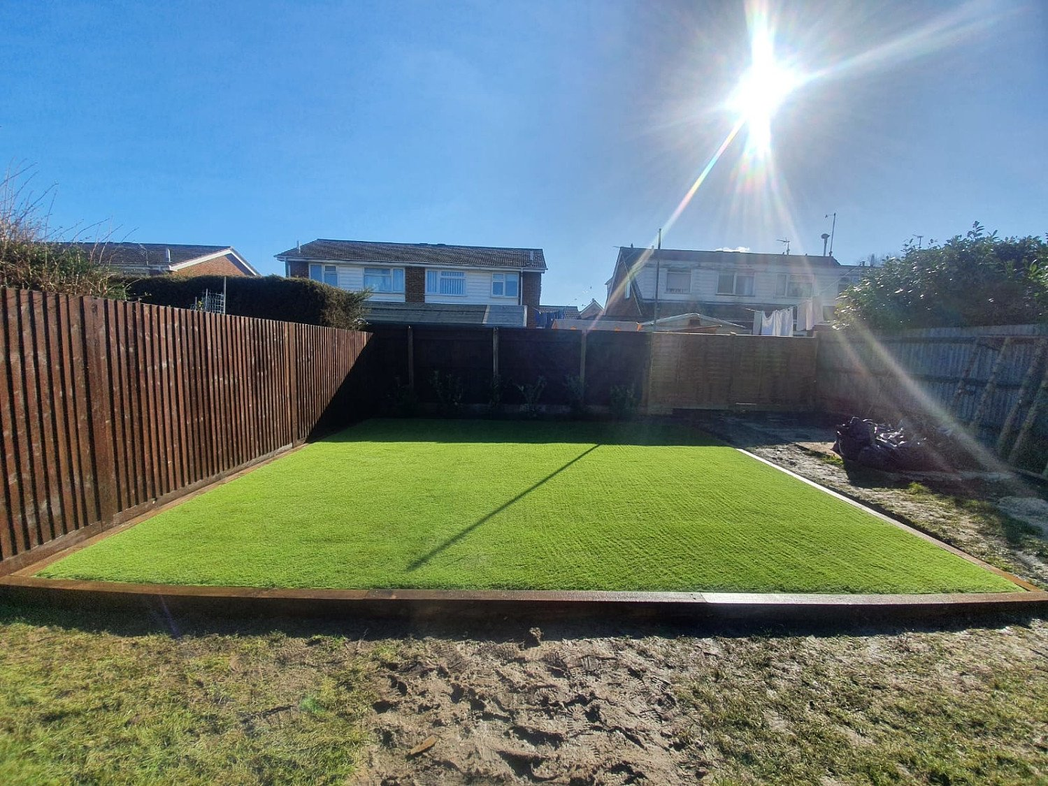 Customers garden done this week for children's play area and drive