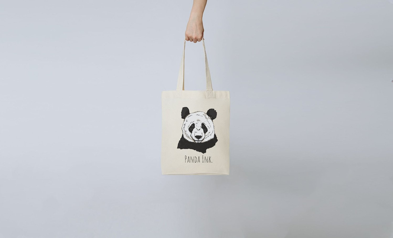 Panda Ink. Tote bag