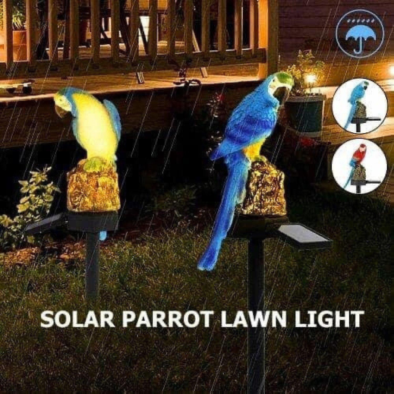 Parrot LED Lawn Lights Garden Landscape Lamp Outdoor Solar Power Free Postage