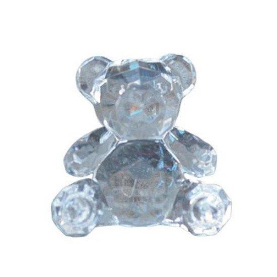Small Acrylic Teddy Bear Clear Ornament