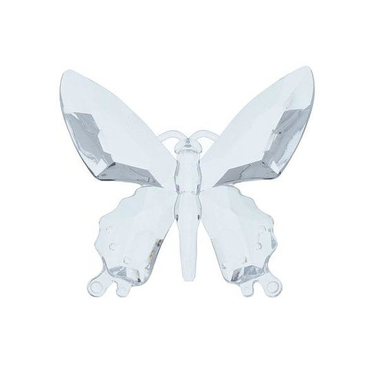 Large Acrylic Butterfly Clear Ornament