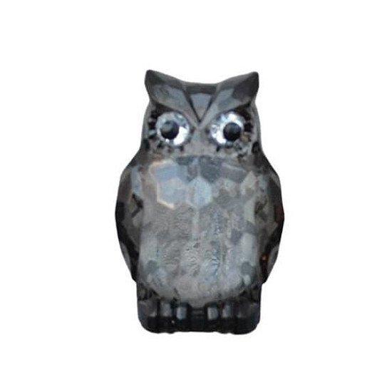 Large Acrylic Owl Two Tone Black Ornament | 8.5cm