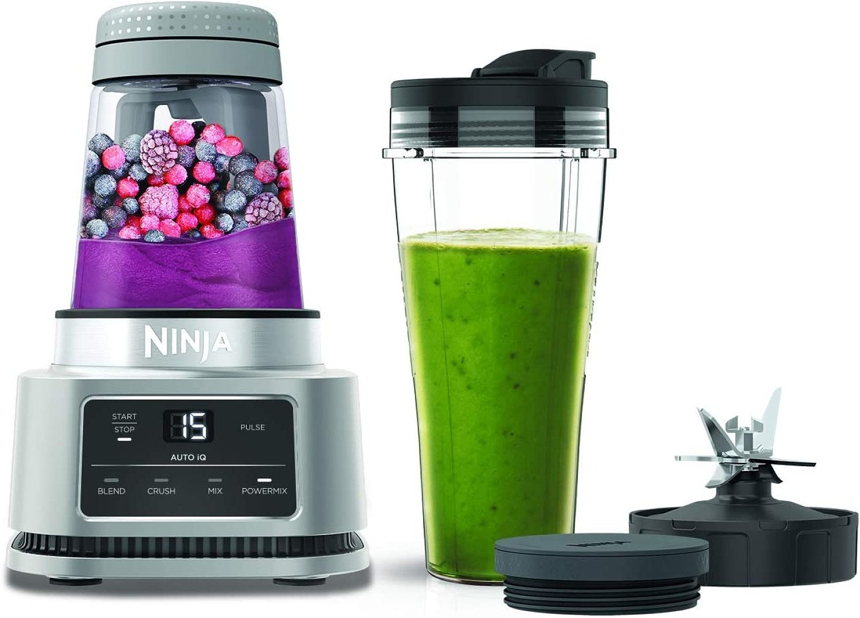 SAVE - Ninja Foodi Power Nutri Blender 2-in-1 with Smart Torque & Auto-iQ 1100W - CB100UK
