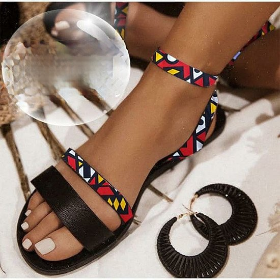 Ankara Sandals Restock