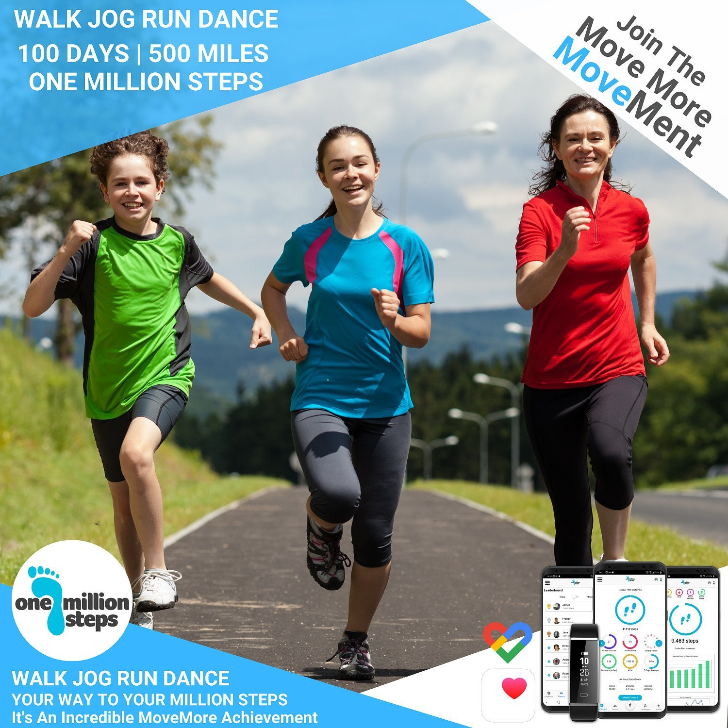 £19.99 (40% OFF) Million Steps Challenge with Bluetooth Sports Tracker