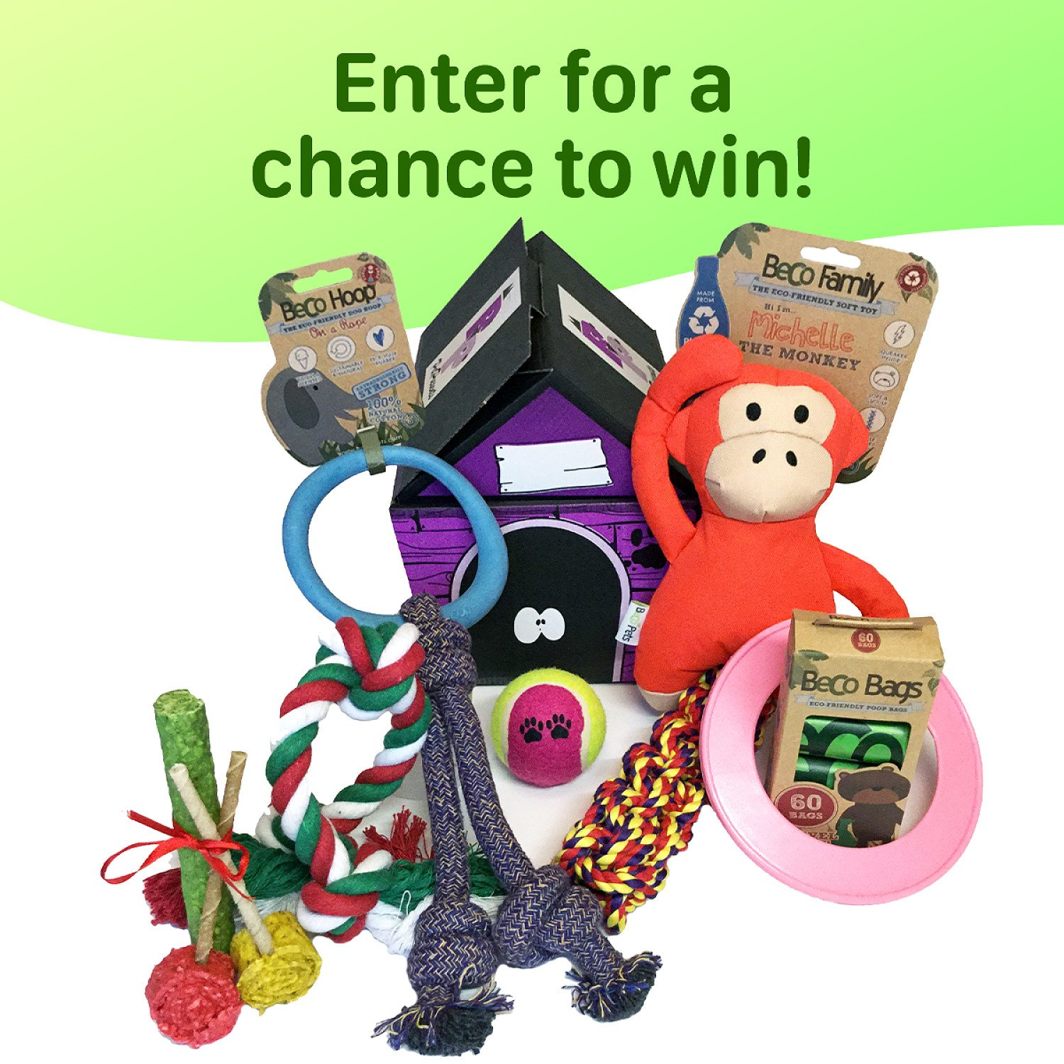 WIN the Ultimate Dog Hamper full of delightful toys