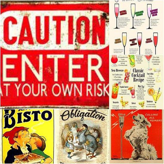 Retro vintage signs