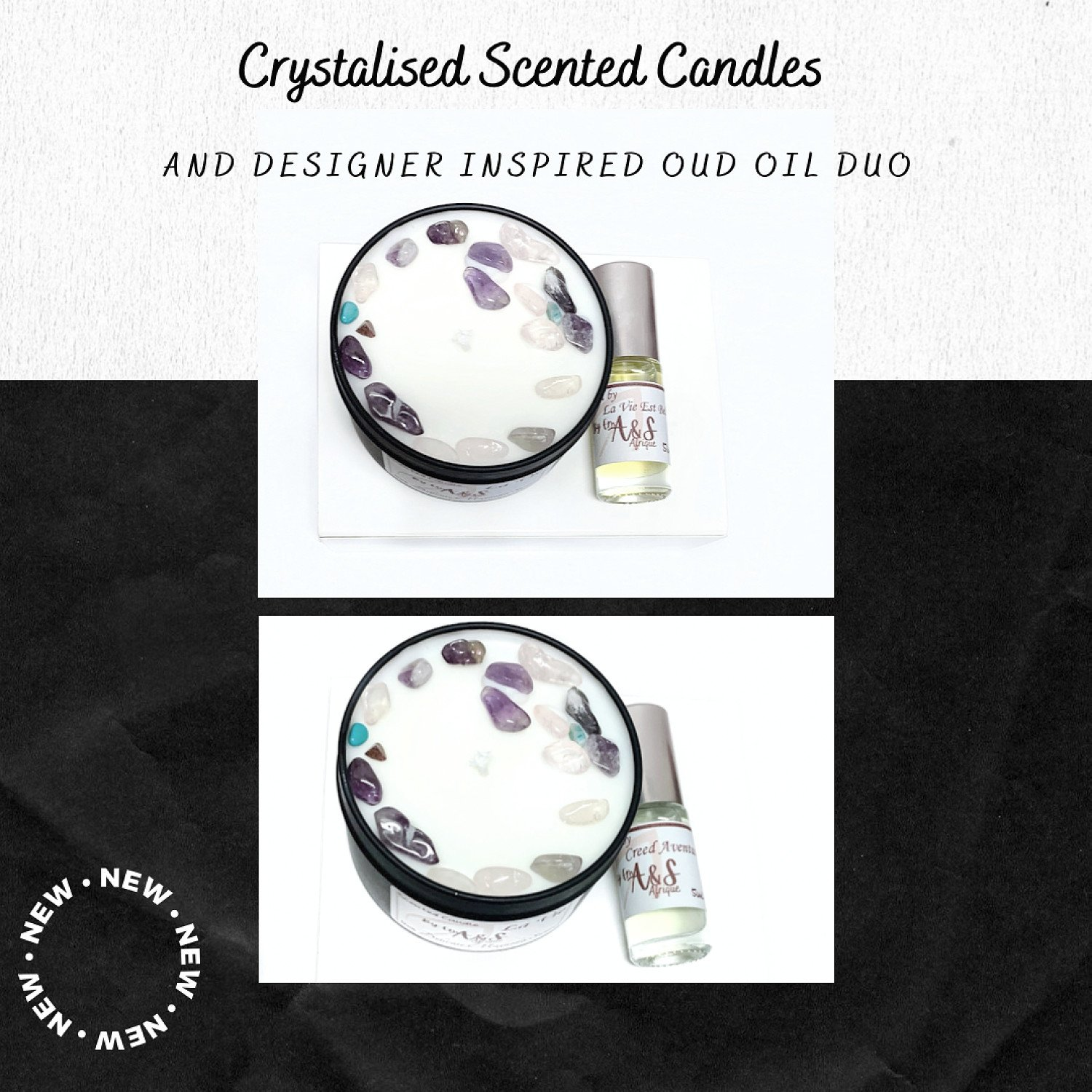 Save 15% on our scented candles and crystal infused scented candles.