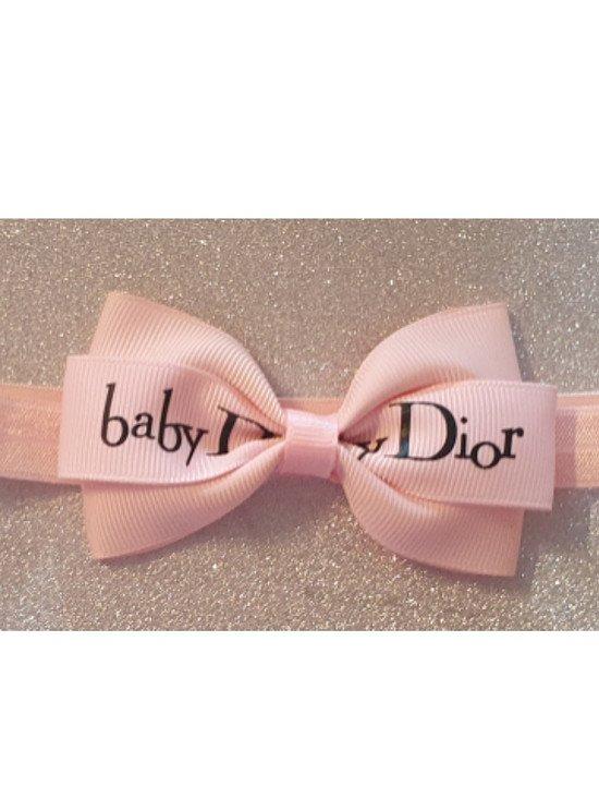 Baby Dior Hairbow or Headband