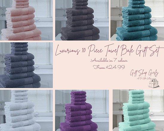 Luxurious 10 Piece Towel Bale Gift Set