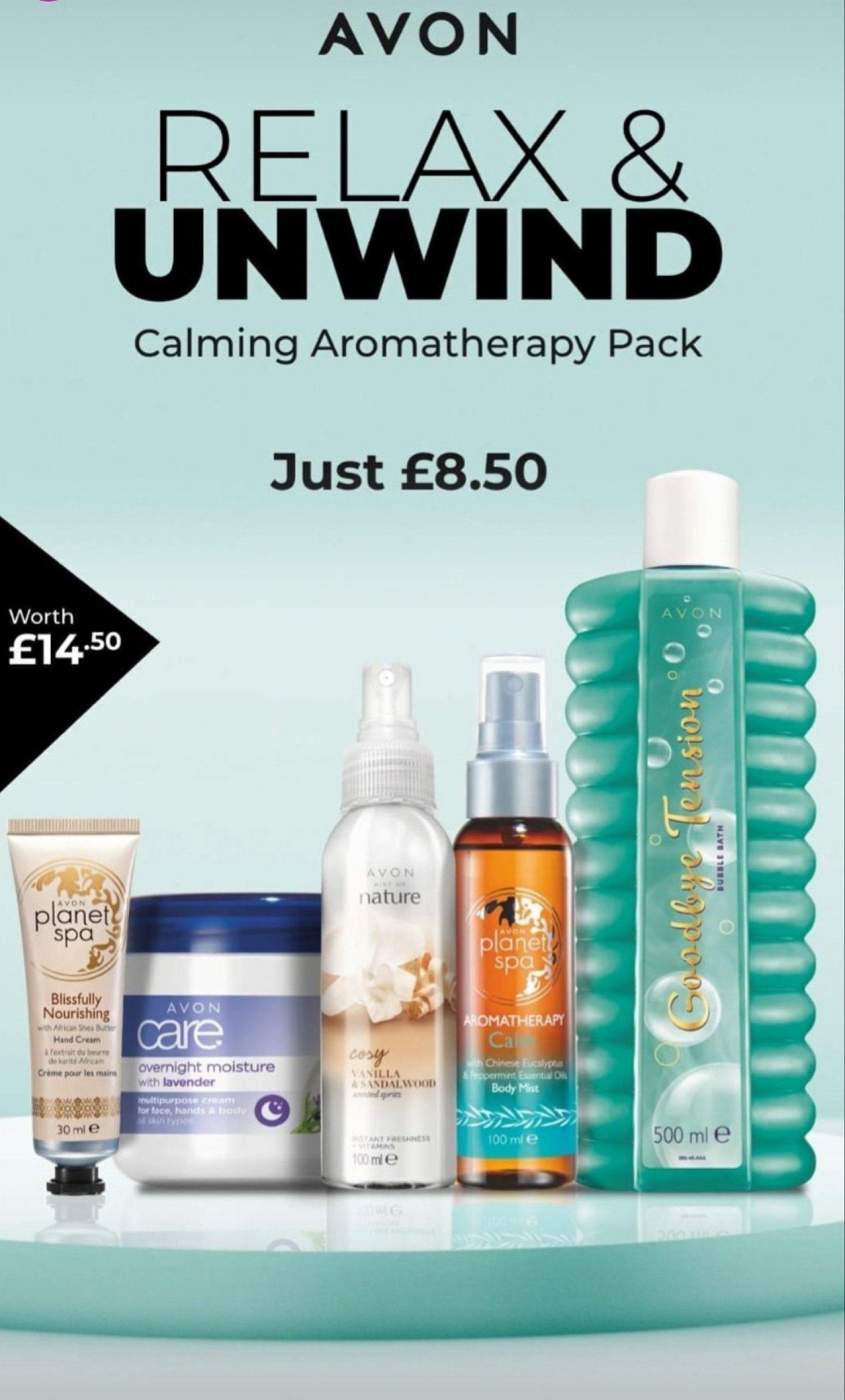 AVON direct delivery offers-Pamper Bundle