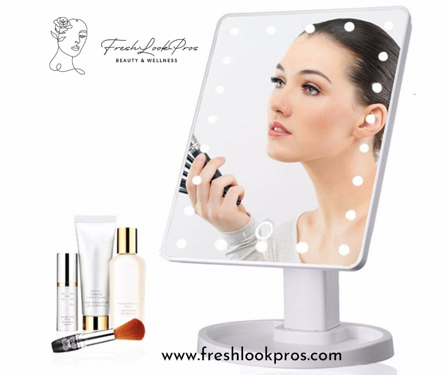 Get Your Glam On with this Adjustable LED Mirror from Freshlookpros!