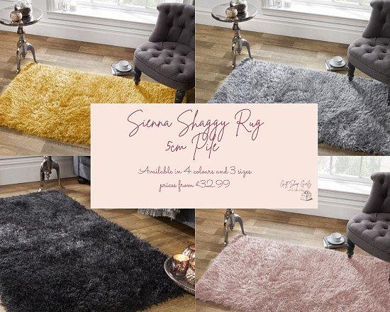 Sienna Shaggy Rug - 5cm Pile