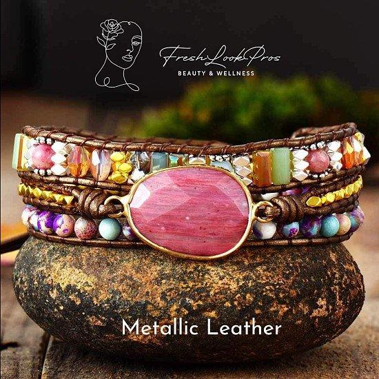 Freshlookpros Handmade Multi Colour Crystal Bracelet