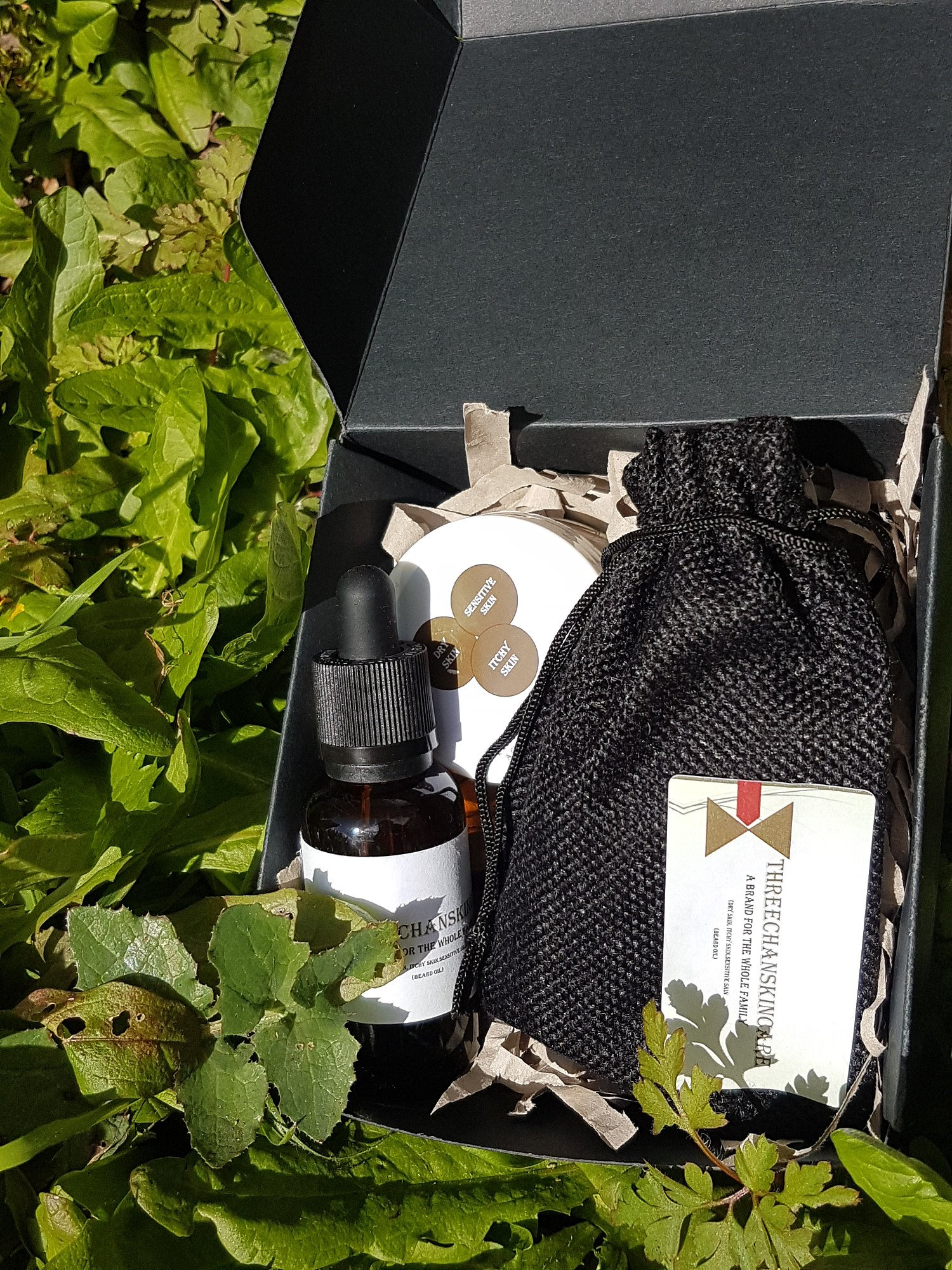 Beard growth oil and beard moisturiser balm