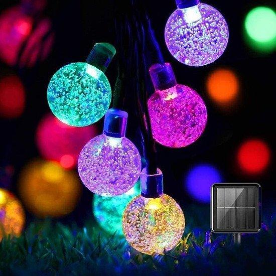 50 LED Solar Powered Garden Party- Multicoloured