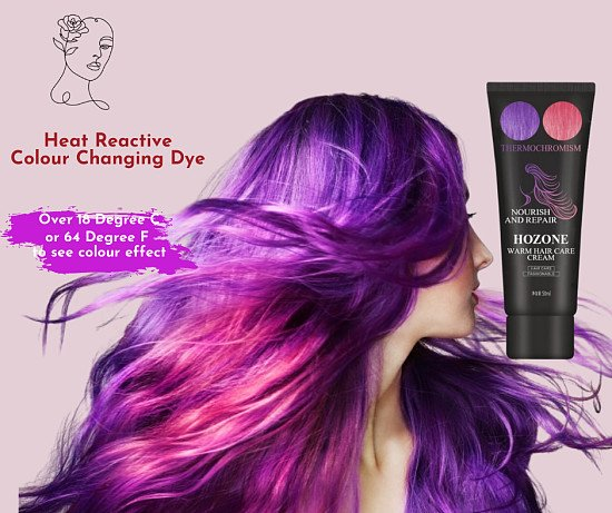Heat Reactive Colour Changing Hair Dye
