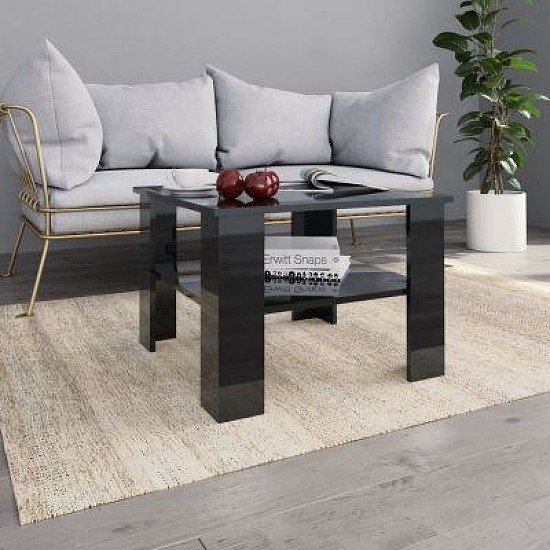COFFEE TABLE HIGH GLOSS BLACK 60X60X42CM £45.00