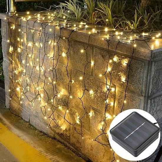 100 LED SOLAR POWERED STRING LIGHTS WARM WHITE