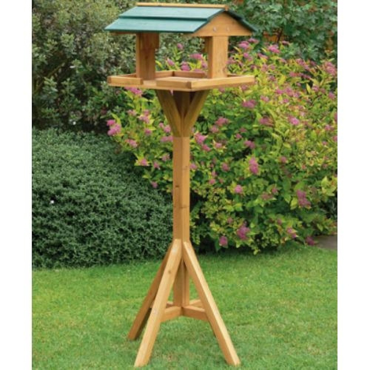 Traditional Wooden Bird Table Garden Decoration