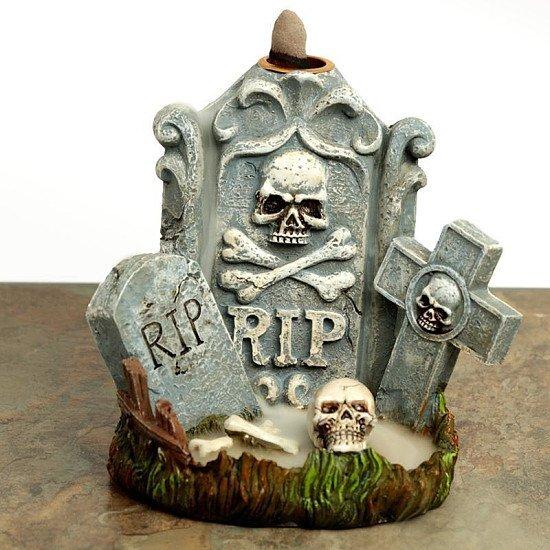 BACKFLOW INCENSE BURNER - RIP TOMBSTONE