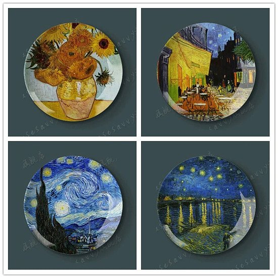 8 and 10 inch Ceramic Wall Decor Plate
